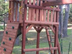 Saco Cedar Playset with Climbing Wall