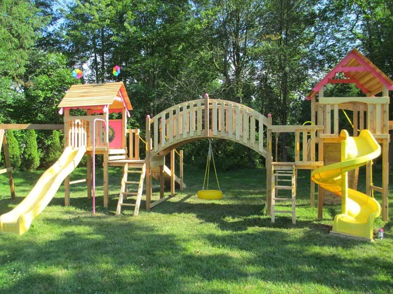 Custom Backyard Play Structures : Playground Metal Swing Set Swingset Outdoor Play Slide Kids Backyard