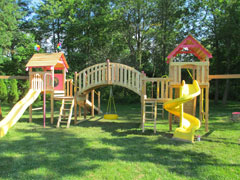 Custom Design Cedar Playset