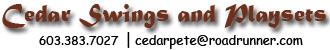 Cedar Swings and Playsets