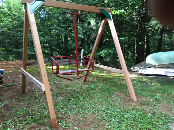 Beau An Authentic Ski Lift Chair Mounted On A Fine Western Red Cedar Frame