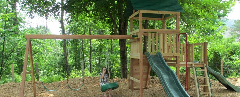 Cedar Playset & Swing set