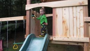 cedar wood playset