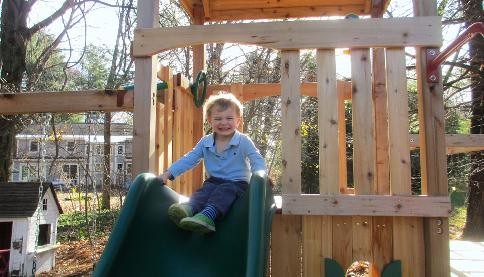 Playset with Slide