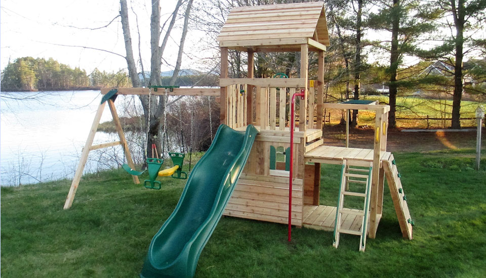 Cedar Swing Playsets & Swing Sets