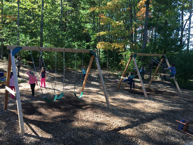 Red Cedar Swing Sets Made In Usa Simple Affordable Fun