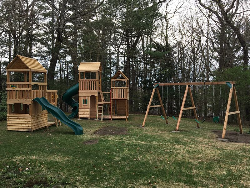 Custom Design Cedar Playsets