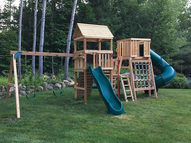 The Tuckerman Climber Cedar Playset